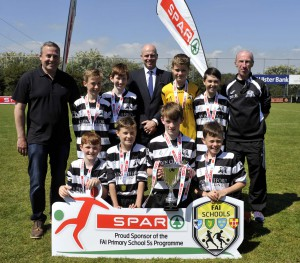 Granagh NS winners of Section A at the SPAR/FAI Munster Primary Schools'  5 a side Soccer Competition. Picture: Mike English.