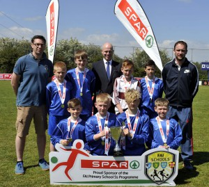 Nenagh CBS winners of Section C at SPAR/FAI Munster Primary Schools' 5 a side soccer finals played at College Corinthians  Complex, Cork. Picture: Mike English.