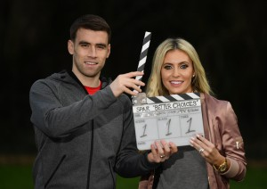 17 January 2017; Seamus Coleman and Claudine Keane were today announced as ambassadors for SPAR'S healthy eating initiative 'Better Choices'. Seamus and Claudine have teamed up with SPAR to encourage people in Ireland to start 2017 right by making healthier choices when it comes to fresh food and groceries by choosing from the 'Better Choices' range available at SPAR stores nationwide. Photo by Ramsey Cardy/Sportsfile *** NO REPRODUCTION FEE ***