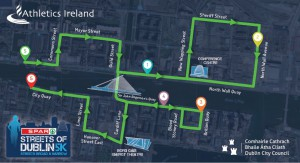 SPAR Streets of Dublin 5K Route