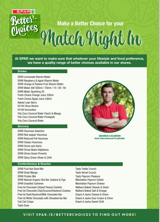 Spar Better Choices Match Night In Product List